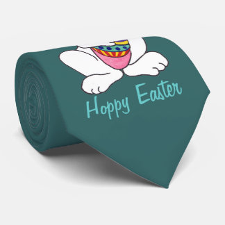 Coelhinho da Páscoa & ovo engraçados - laço Gravata