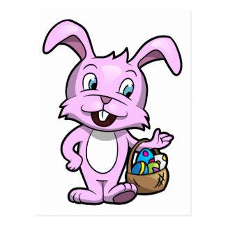 Coelhinho da Páscoa que guardara a cesta dos ovos Cartão Postal