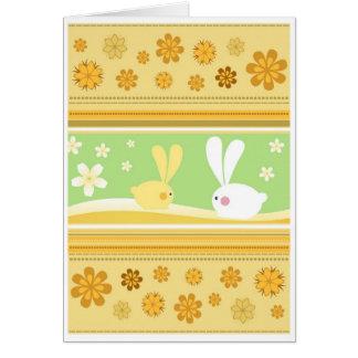 Coelhinhos da Páscoa Cartão