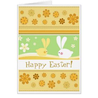 Coelhinhos da Páscoa Cartão Comemorativo