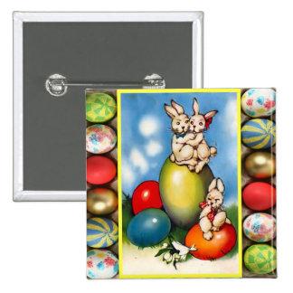 Coelhinhos da Páscoa com ovos da páscoa Boton