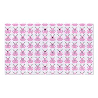 Coelhinhos da Páscoa cor-de-rosa engraçados Cartão De Visita