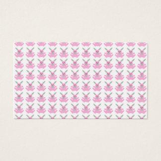Coelhinhos da Páscoa cor-de-rosa engraçados Cartão De Visitas