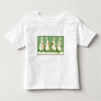 Coelhinhos da Páscoa do Musical do vintage Camiseta Infantil