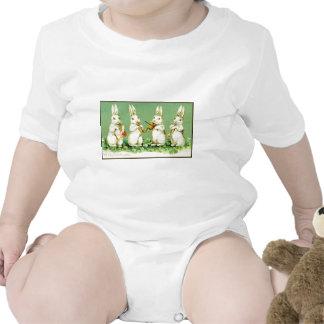 Coelhinhos da Páscoa do Musical do vintage Macacãozinho Para Bebê