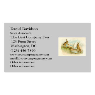 Coelhinhos da Páscoa do vintage Cartão De Visita