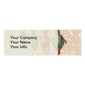 Coelhinhos da Páscoa do vintage que dançam com Cartão De Visita Skinny