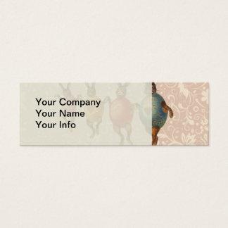 Coelhinhos da Páscoa do vintage que dançam com Cartão De Visitas Mini