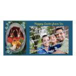 Coelhinhos da Páscoa e cartão com fotos do vintage