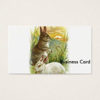 Coelhinhos da Páscoa no nascer do sol Cartão De Visitas