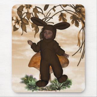 Coelho 1 do bebé do chocolate doce mousepads