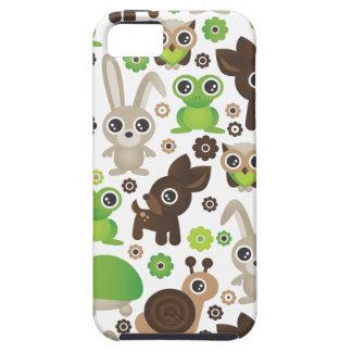 Coelho bonito dos cervos da tartaruga do sapo dos capa tough para iPhone 5