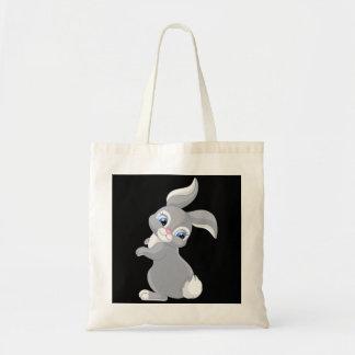 Coelho bonito dos desenhos animados bolsa tote