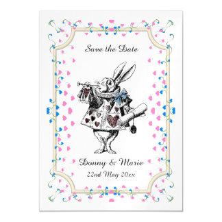 Coelho branco Alice do vintage na data do país das