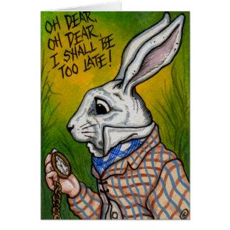 COELHO BRANCO Alice no cartão de nota do país das