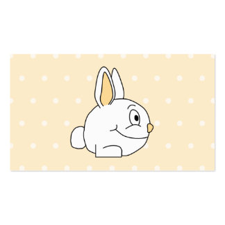 Coelho branco, no patten. bege das bolinhas cartão de visita