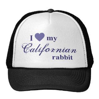 Coelho californiano boné