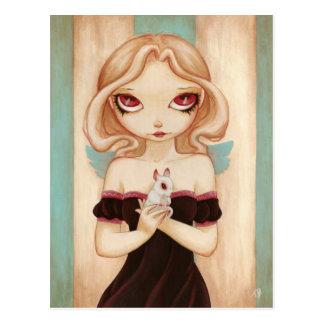 Coelho - cartão feericamente do coelho do albino