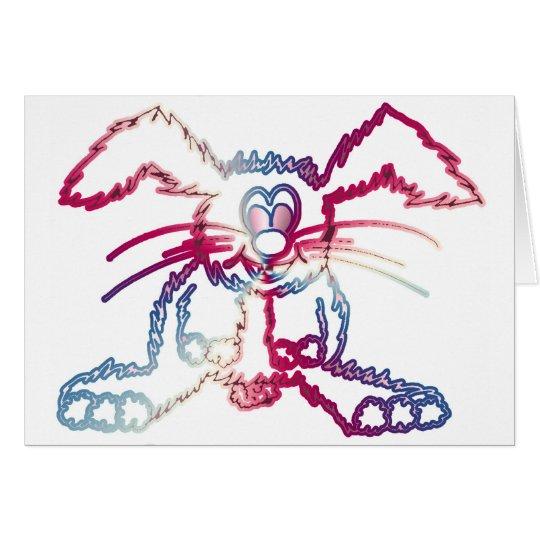 coelho colorido cartão comemorativo