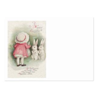Coelho de coelhinho da Páscoa da menina Cartões De Visita