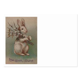 Coelho de coelhinho da Páscoa do vintage Cartão De Visita Grande