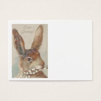 Coelho de coelhinho da Páscoa do vintage Cartão De Visitas