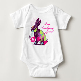Coelho de coelhinho da Páscoa floral Body Para Bebê