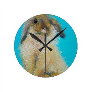 Coelho de coelhinho da Páscoa Relógio De Parede