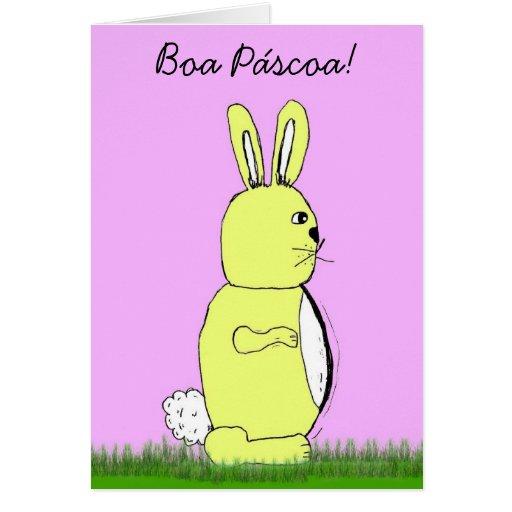 Coelho de felz pascoa de Pascoa da boa Cartoes