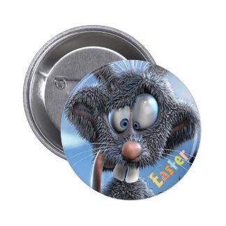 coelho de felz pascoa engraçado boton