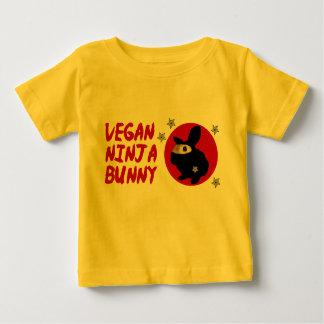 Coelho de Ninja do Vegan Camiseta Para Bebê