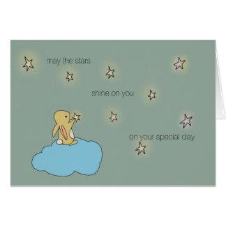 Coelho de Roo - pode o brilho das estrelas em você Cartão Comemorativo