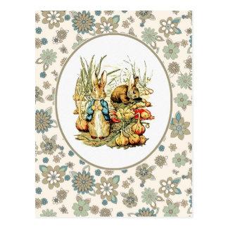 Coelho do vintage por Beatrix Potter. Cartão da pá Cartões Postais