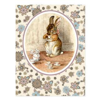 Coelho do vintage por Beatrix Potter. Cartão da pá Cartoes Postais