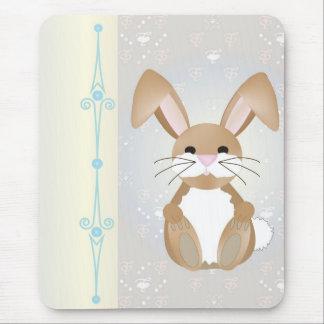 Coelho no azul mouse pad