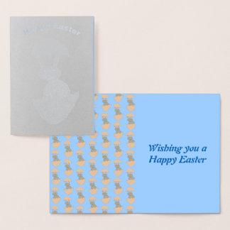 Coelho que choca do cartão estranho da folha do