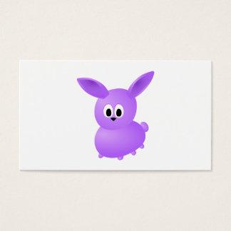 Coelho roxo do bebê cartão de visitas