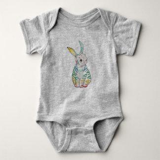 Coelho Stripy Babygrow Body Para Bebê