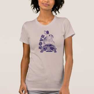 Coelho, tartaruga, amor camiseta