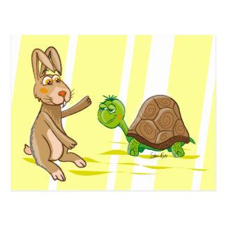 Coelho & tartaruga - cartão
