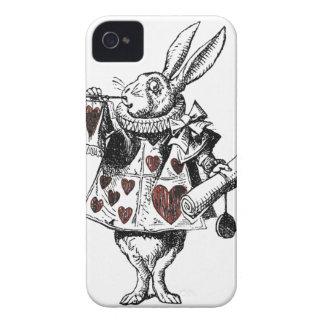 Coelhos brancos dos corações - Alice no país das Capinhas iPhone 4