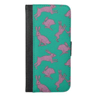 Coelhos cor-de-rosa bonitos na capa de telefone