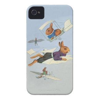 Coelhos de coelho do vôo - vintage engraçado capinhas iPhone 4