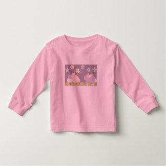 coelhos roxos & cor-de-rosa bonitos, camisa da
