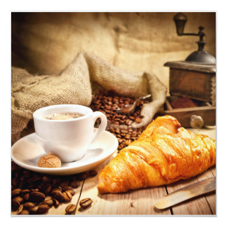 Coffee break as a Postcard Convite Quadrado 13.35 X 13.35cm