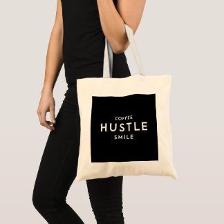 Coffee Hustle Smile Tote