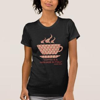 Coffee t-shit com frase de Jackie Chan. Camiseta