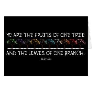 Cofre forte comigo cartão da obscuridade da árvore