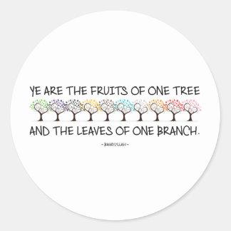 Cofre forte comigo etiqueta da árvore