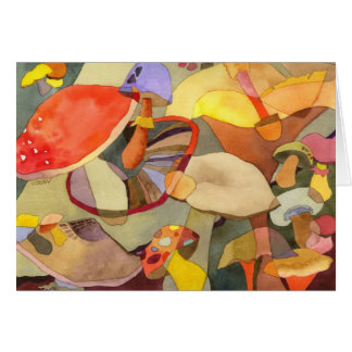 Cogumelos coloridos: Cartão vazio